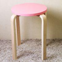 [木布家具]宜家田园风格彩色实木弯曲木圆凳板凳子椅子 厂家批发