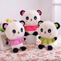 厂家直销公仔 婚庆娃娃 婚礼礼品 公司活动抓机毛绒娃娃 彩色熊猫