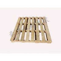 实木托盘专业出口免熏蒸山东厂家定做1.2米尺寸四面进叉木托盘