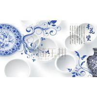 供应现代简约欧式刺绣墙布|北京刺绣墙布厂家直销
