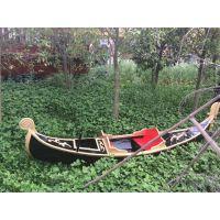 供应江苏泓润厂手划黑色贡多拉摄影道具船威尼斯贡多拉欧式木船