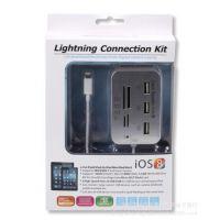 ipad4 mini USB HUB多功能读卡器 lightning苹果带线外置COMBO