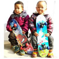 60CM四轮儿童滑板车,四轮滑板,九层双翘枫木滑板双面图案,PVC轮