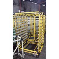 供应重庆JIT线棒仓储设备PVC塑角台车精益管连接件