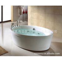 佛山浴缸厂家批发 冲浪按摩浴缸亚克力单人独立浴缸M1710