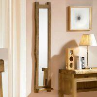 供应韩式榆木壁挂式试衣镜实木装饰镜