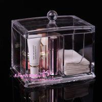 透明化妆盒 多功能棉签收纳盒储物盒 棉球收纳盒亚克力水晶收纳盒