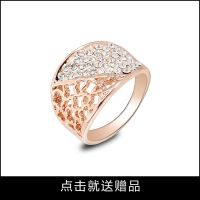 速卖通热销批发复古戒指创意 镶钻复古戒指创意 个性复古戒指创意