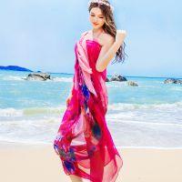 2015韩国版春夏秋冬季超大仿真丝雪纺丝巾女士防晒披肩沙滩大围巾