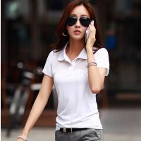 韩国官网同款2015春夏新款日韩女装修身显瘦短袖雪纺翻领T恤女