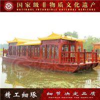 上海楚水厂家出售16M木船画舫船餐饮船电动观光船 钓鱼船工艺船cs-007服务类船