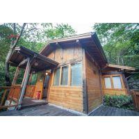 厂家专业建造高档现代木屋酒店温泉木屋