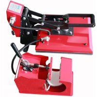 推荐 HPC580 手动直压烫画机 卧式烤杯机 二合一多功能热转印机