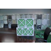 畅销折叠式初效过滤器 G4绿白棉优质滤料 单面镀锌护网 铝合金外框