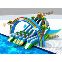 河南大型充气水滑梯厂家联系电话,郑州熊出没充气水滑梯一套多少钱?气模布水滑梯厂家订做