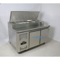 艾豪思商用不锈钢风冷柜带盖披萨操作柜冷藏保鲜开孔工作台上海沙拉操作台厂