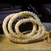 精品11*7/10*6mm白菩提镶嵌绿松石珊瑚桶珠正月藏式佛珠手链素串