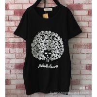 全网爆款特价夏装新款韩版短袖T恤大码学生姐妹装圆领打底衫