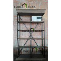 上海韩尔家具供应 LOFT工业咖啡厅HR-J0018书架