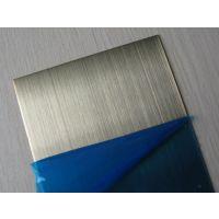 青古铜拉丝不锈钢板 专业生产拉丝古铜板 古铜拉丝板 蚀刻拉丝板 古铜蚀刻拉丝无指纹板
