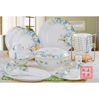 上海餐具陶瓷厂家 礼品餐具定做 商务礼品陶瓷锦盒餐具批发