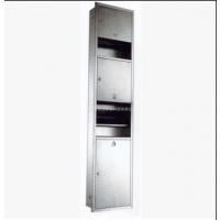 304不锈钢三合一组合柜 干手器 手纸架 垃圾箱 一体化组合柜