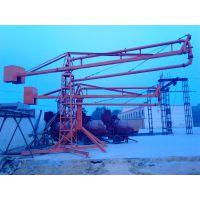 湖北仙桃鑫旺HG15型折叠回转布料机实现全方位浇筑