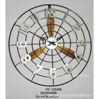 厂家直销 创意铁艺挂件 电风扇工艺品 挂饰钟 定做工艺