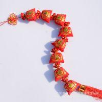 8头绒布福袋串挂件批发 辣椒鞭炮花生苹果玉米挂饰 新年节日挂饰