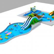心悦水上乐园设计图2016款pvc充气水滑梯,鳄鱼水上充气滑梯蹦蹦床组合支架水池