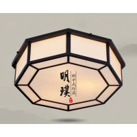 楼道中式铁艺吸顶灯 现代简约中式吸顶灯 中式布艺吸顶灯批发厂家