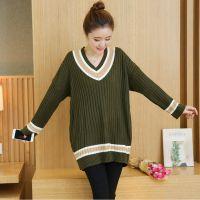 (实拍)新款秋冬装孕妇毛衣针织打底衫长袖套头宽松大码孕妇装