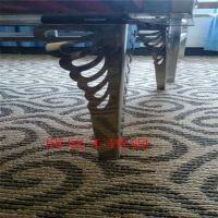 厂家供应 不锈钢雕花茶几脚  不锈钢餐桌配件  不锈钢家具配件