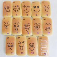 仿真水果蔬菜 PU面包 ipone4手机套 时尚面包 可爱表情 装饰品