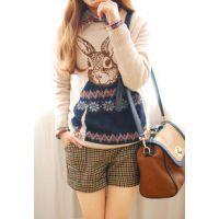 秋冬新款学院风加厚兔子毛衣女韩版宽松套头针织衫打底衫长袖女装