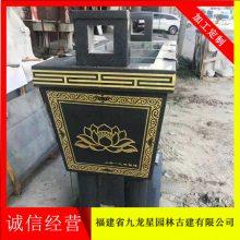 寺庙焚香石雕香炉 青石 圆形 香炉雕刻厂家