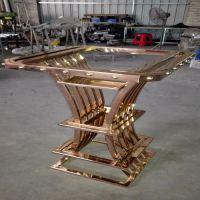 新款造型KTV玫瑰金不锈钢吧台 酒吧不锈钢吧台 厂家定制加工