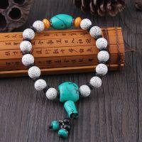 【厂家直销】星月菩提子手串单圈藏式佛珠配绿松石男女式款手串
