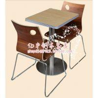 厂家直销快餐桌 分体餐桌 不锈钢餐桌椅 酒店桌椅 实木软包椅子