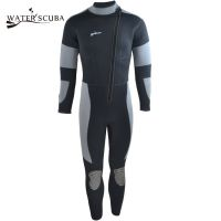 5mm加厚防晒长款 正品潜水衣water scuba连体式 高档干式潜水服 冬泳服厂家 一件代发
