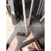 老式铁加钢锻打宽口木棍锄头 带木杆 销子 木塞 整把装配批发