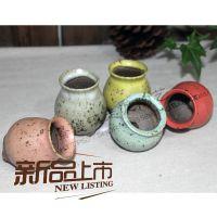 老河口走泥陶艺多肉拇指花盆多器形复古釉花盆手捏系列韩国多肉盆