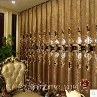 厦门窗帘地毯地板15160029228豪华欧式经典窗帘布料窗纱客厅卧室别墅雪尼尔绣花窗帘