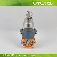 LA110-A2-Y 自锁型按钮 瞬动型按钮 钥匙按钮 工业按钮 旋转钮