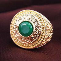 仿真黄金宝石戒指 镀金指环 银饰 ebay 速卖通 外销货源 代发国外