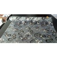 2015年花型PVC钻石夹花水晶板桌垫广东厂家批发