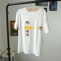 148# 韩国东大门短袖T恤卡通小人宽松T恤衫批发 厂家一手货源