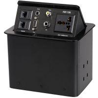 带网络RJ45电源接口VGA音频话筒RCA视频高档多媒体桌面插座信息盒