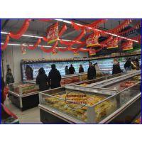 佳伯风冷敞口海鲜水产柜 驻马店卧式开放式速冻岛柜 进口肉类食品保鲜柜