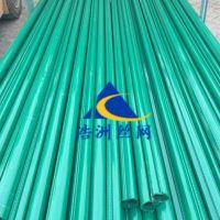 浩洲生产荷兰网立柱燕尾柱 钢管立柱喷塑网片柱子 预埋底盘护栏网柱子